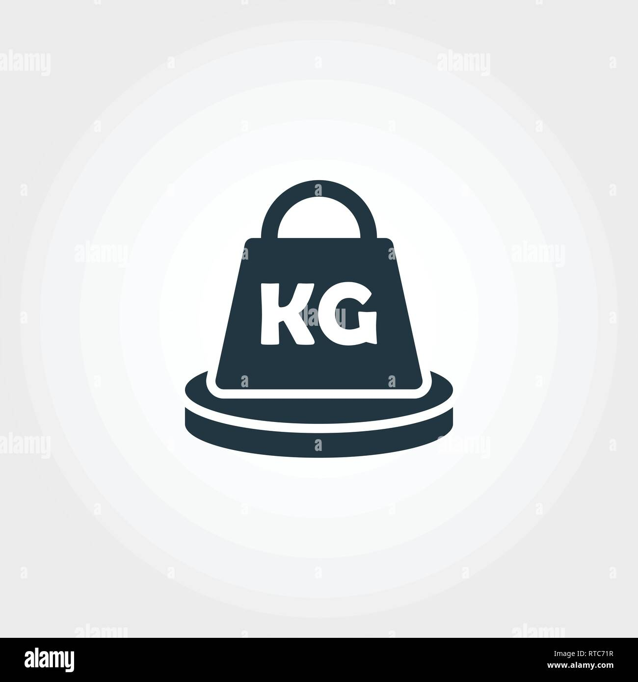 Weight Measurement icon from measurement icons collection. Creative element design weight measurement icon. Web design, apps, software usage. UI and - Stock Image