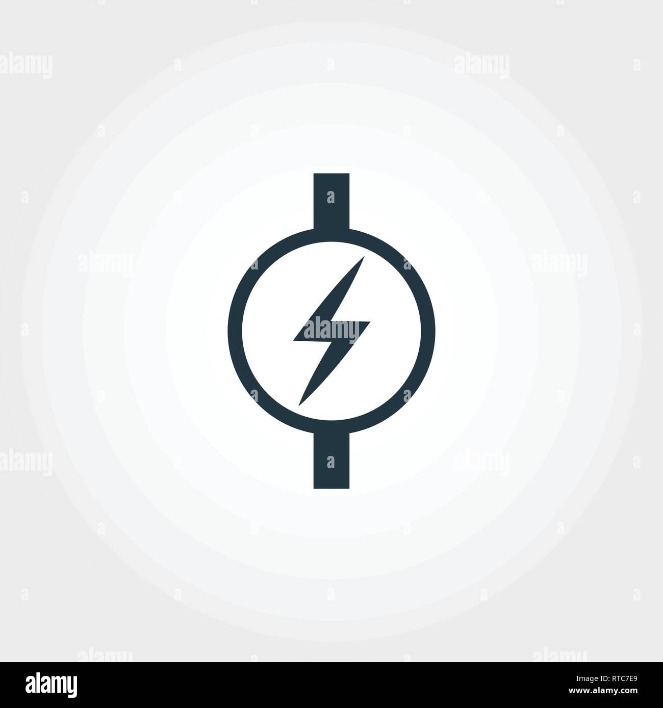 Electric Meter icon from measurement icons collection. Creative element design electric meter icon. Web design, apps, software usage. UI and UX - Stock Image