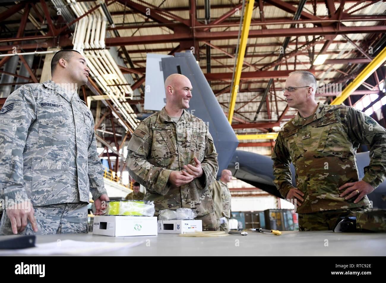 From Left US Air Force Staff Sgt Mark Birrenkott 58th Aircrew Maintenance Squadron
