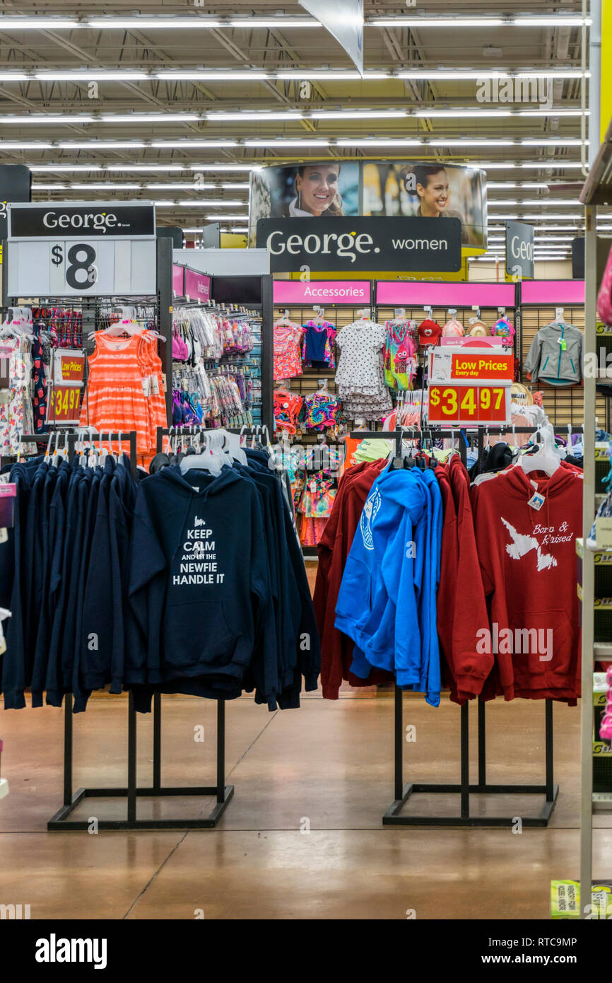 5bda4c00365 George range of women s clothing for sale in a Walmart supermarket ...