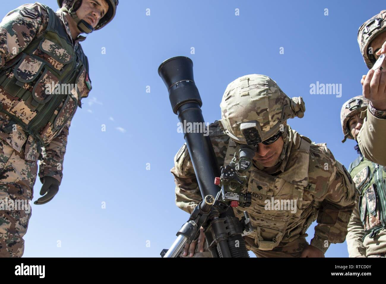 Spc  Jose Alvarado, a mortar gunner with the California National