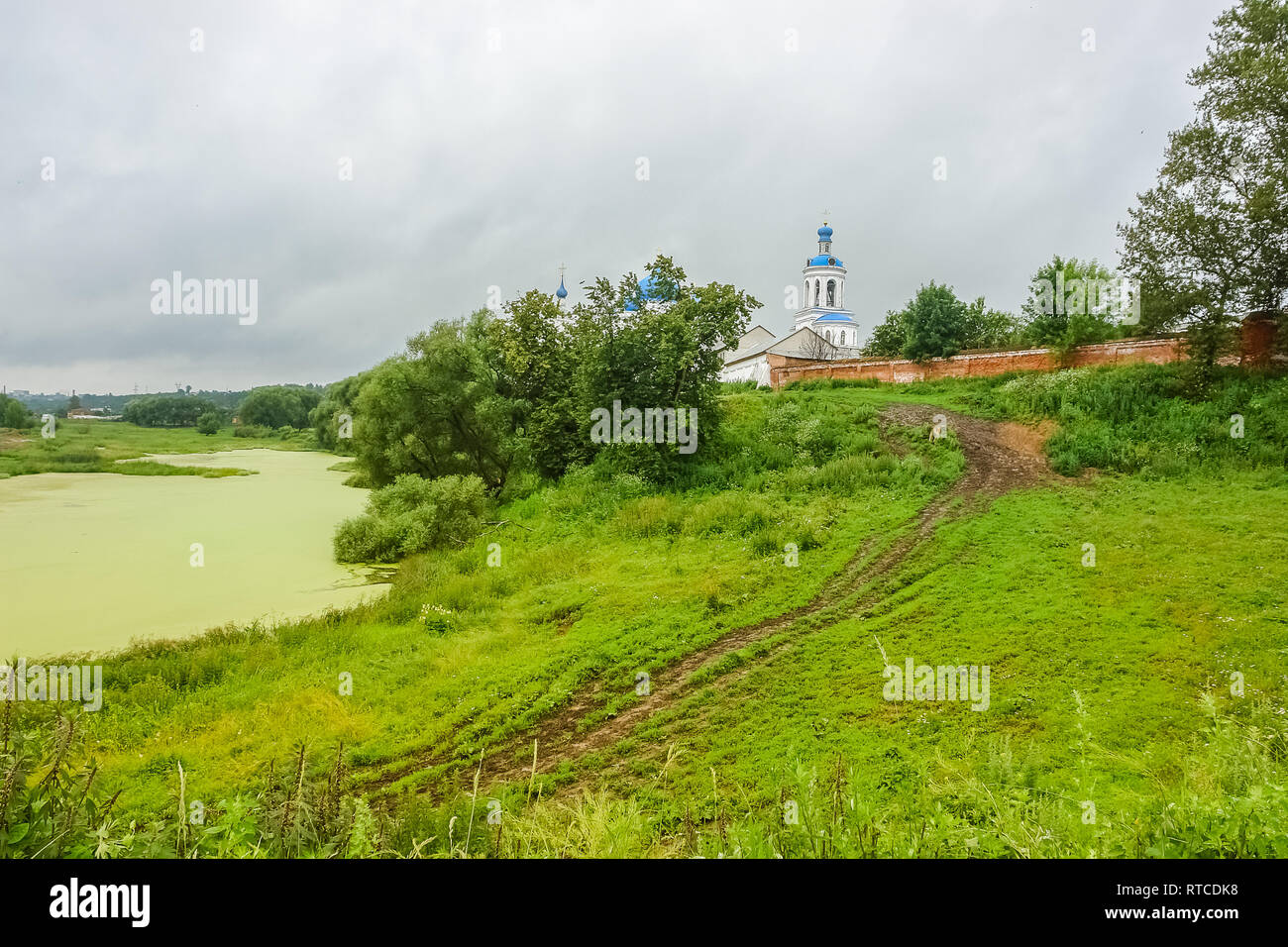 River Church  Summer Before Rain - Stock Image
