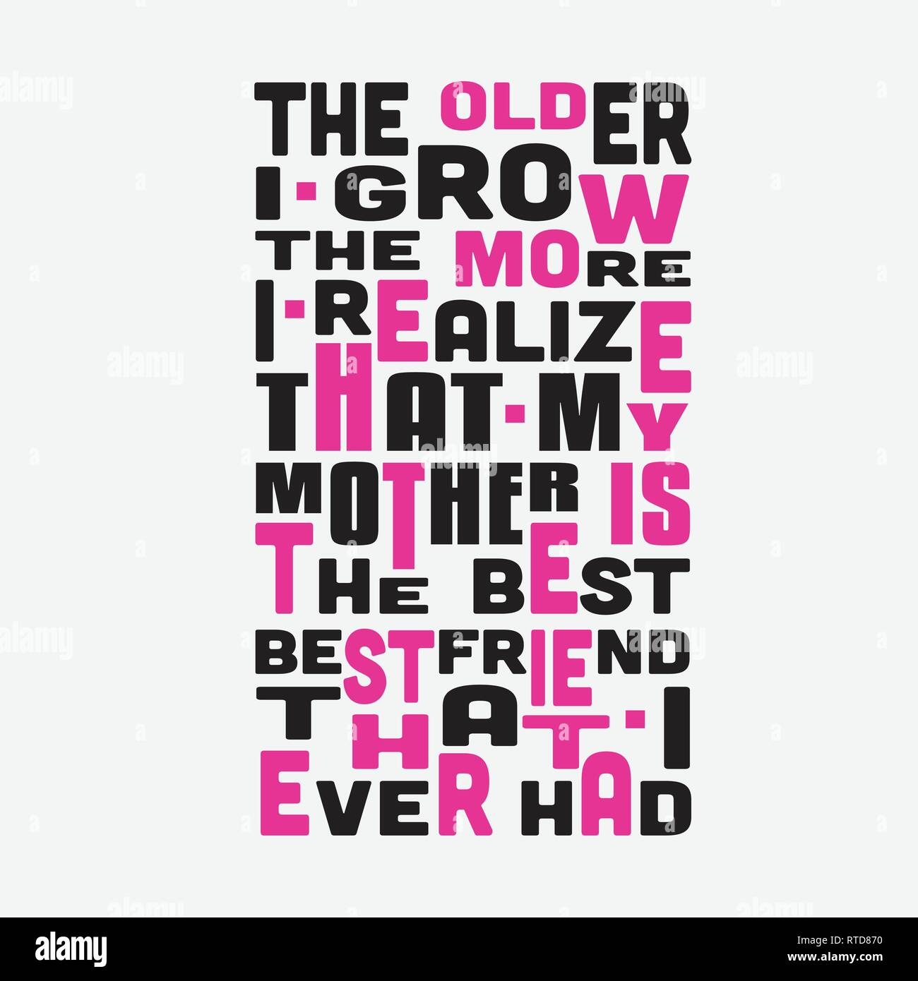 Mother Quote. The older I grow The more I realize that my ...