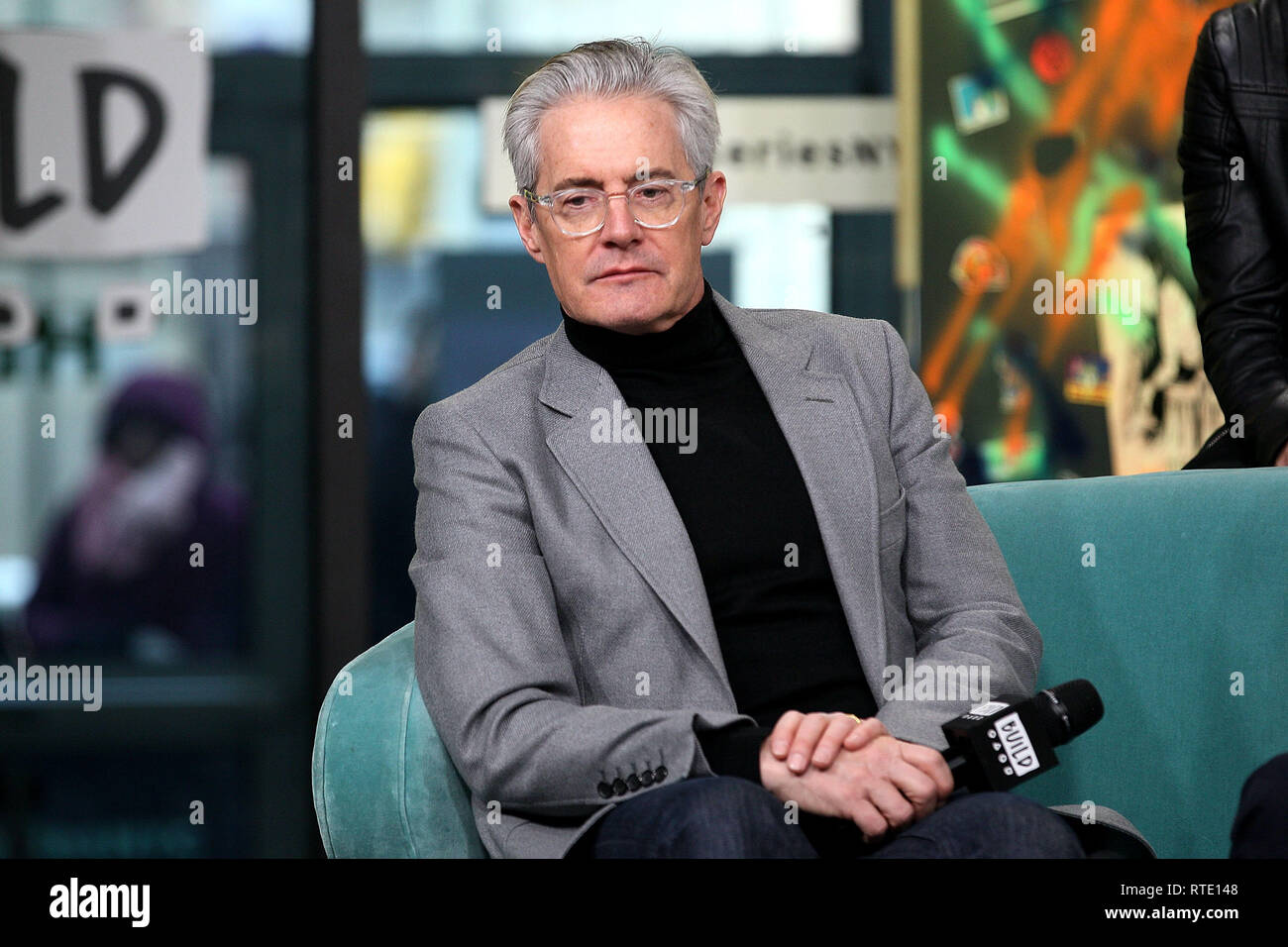 New York, USA. 28 Feb, 2019. Kyle McLaughlan at The Thursday, Feb 28, 2019 BUILD Series Inside Candids discussing the new film 'Giant Little Ones' at BUILD Studio in New York, USA. Credit: Steve Mack/S.D. Mack Pictures/Alamy Live News - Stock Image
