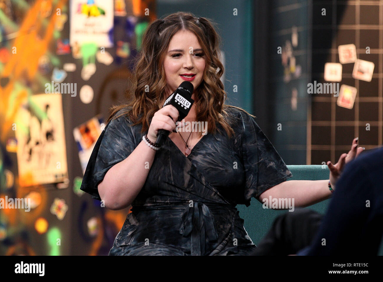 New York, USA. 28 Feb, 2019. Kether Donohue at The Thursday, Feb 28, 2019 BUILD Series Inside Candids discussing 'You're The Worst' at BUILD Studio in New York, USA. Credit: Steve Mack/S.D. Mack Pictures/Alamy Live News - Stock Image