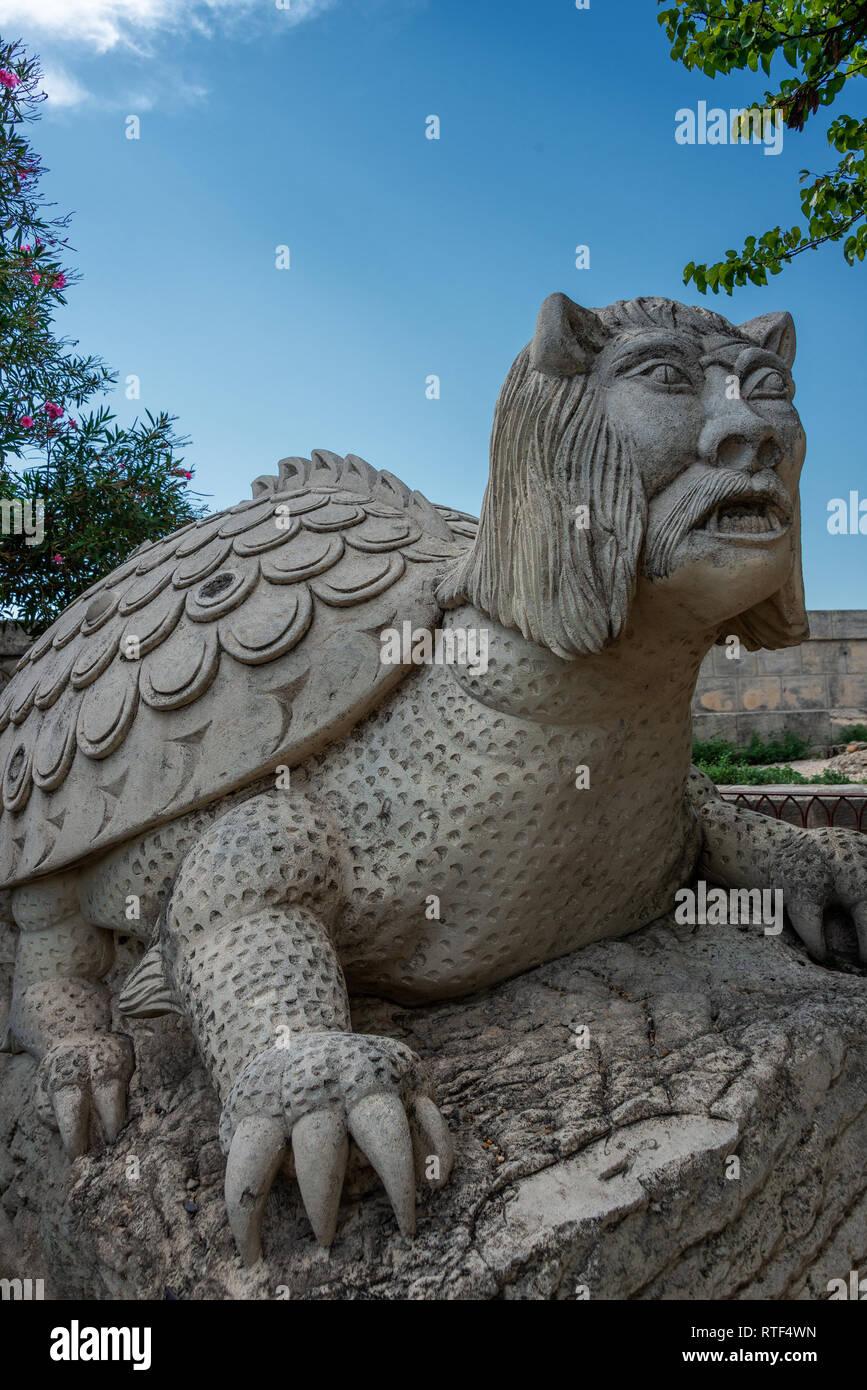 La Tarasque, Medieval Monster. Tarascon. Bouches-du-Rhône. Provence. France - Stock Image
