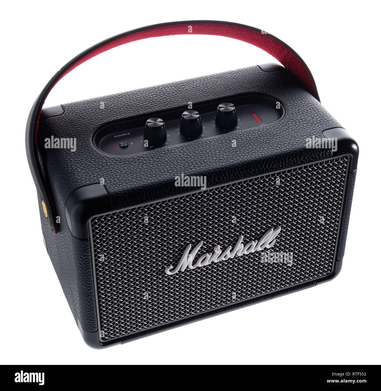 Marshall Kilburn 2 bluetooth loudspeaker. - Stock Image
