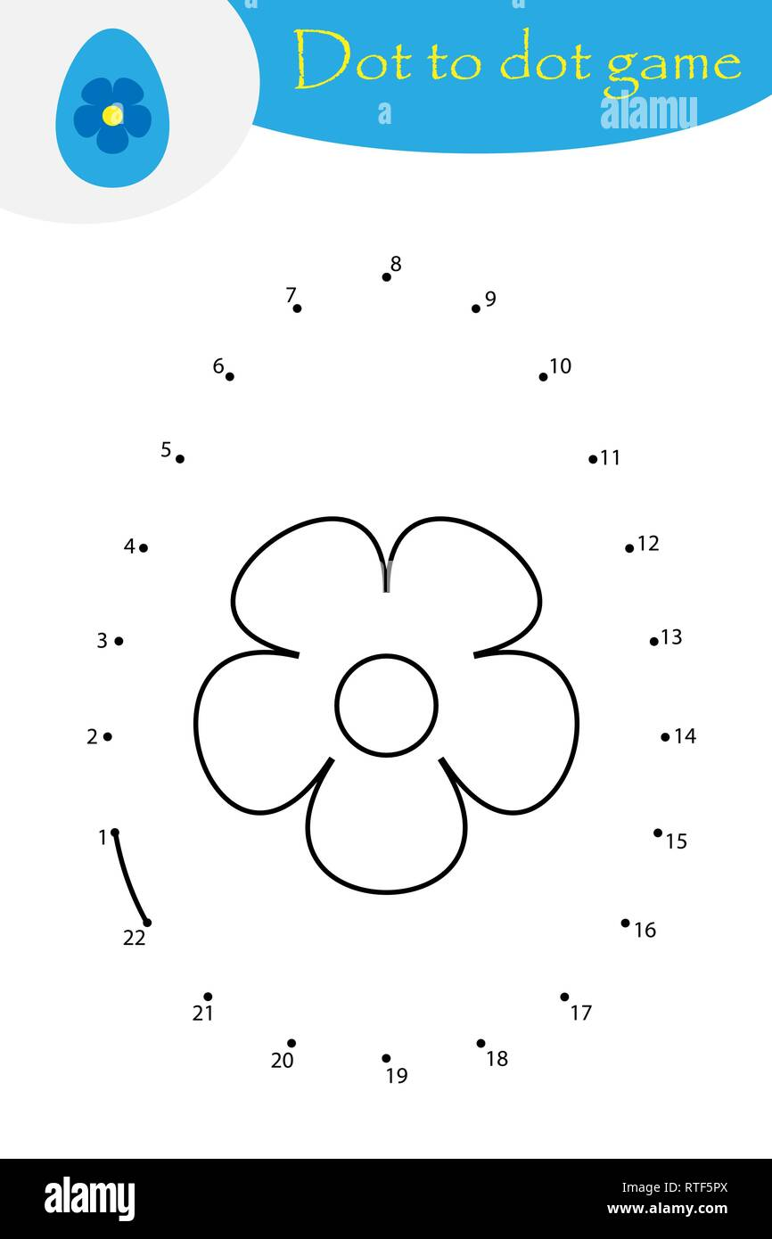 Easter Egg In Cartoon Style Dot To Dot Game Coloring Page Education Numbers Game For The Development Of Children Kids Preschool Activity Printabl Stock Vector Image Art Alamy