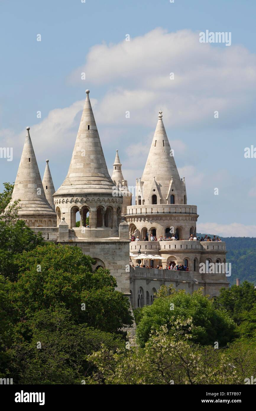 Fisherman's Bastion at castle hill, Castle district, Buda district, Budapest, Hungary Stock Photo
