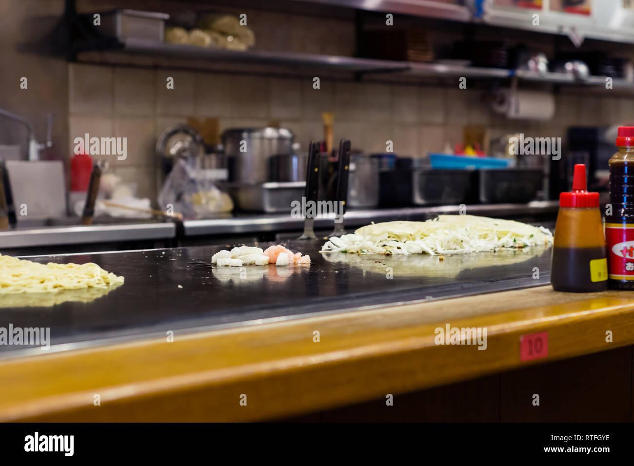 japanese okonomiyaki Stock Photo