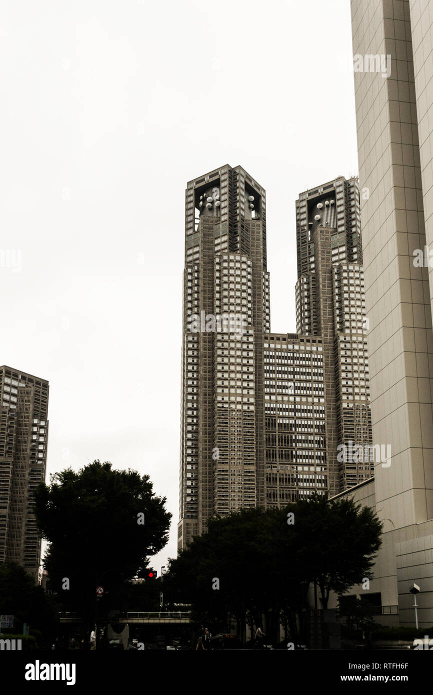 tall buildings in Tokyo Stock Photo