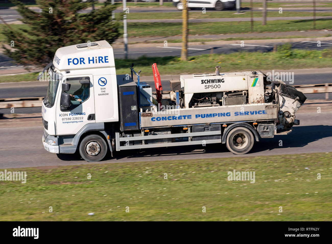 Icon Pumping concrete pumping service for hire  Schwing SP500 pump