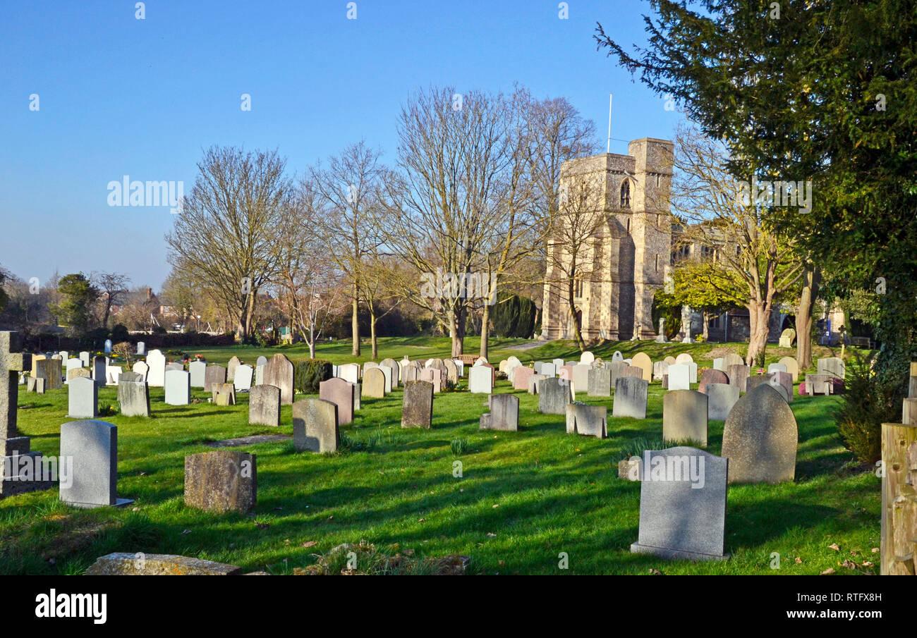St Dunstans Monks Risborough, near Princes Risborough, Buckinghamshire, UK - Stock Image