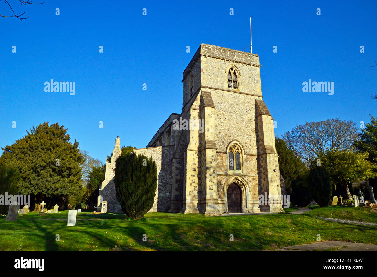 St Dunstans Monks Risborough, near Princes Risborough, Buckinghamshire, UK - Stock Image