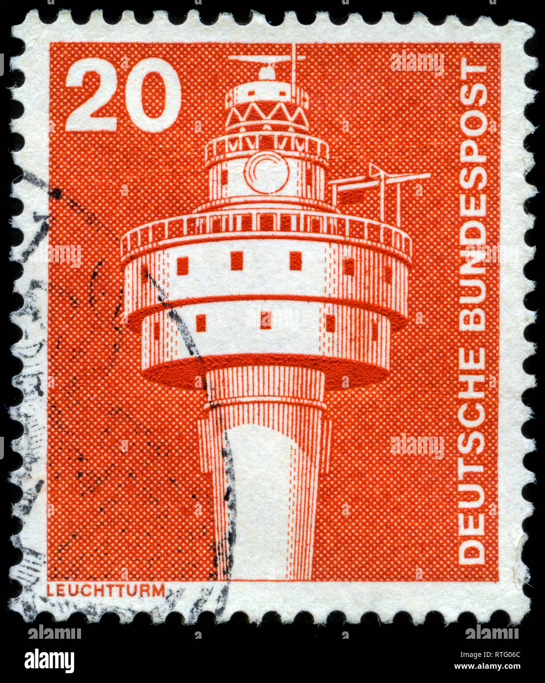 Postage stamp from the Federal Republic of Germany in the Industry and Technology Definitives 1975-1982 series issued in 1976 - Stock Image