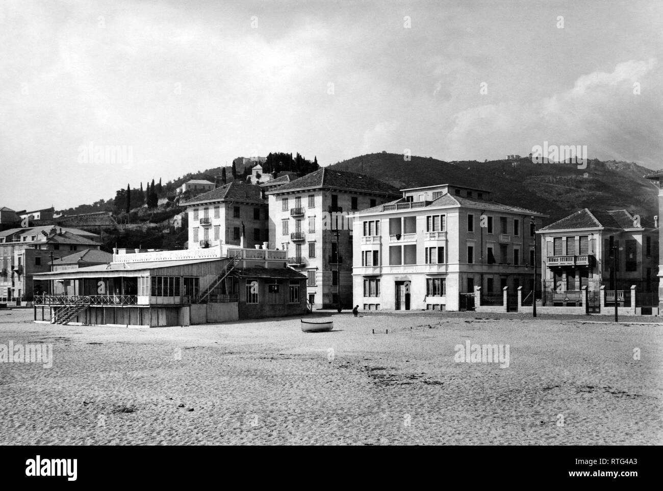 finale ligure, hotel, 1920 - Stock Image