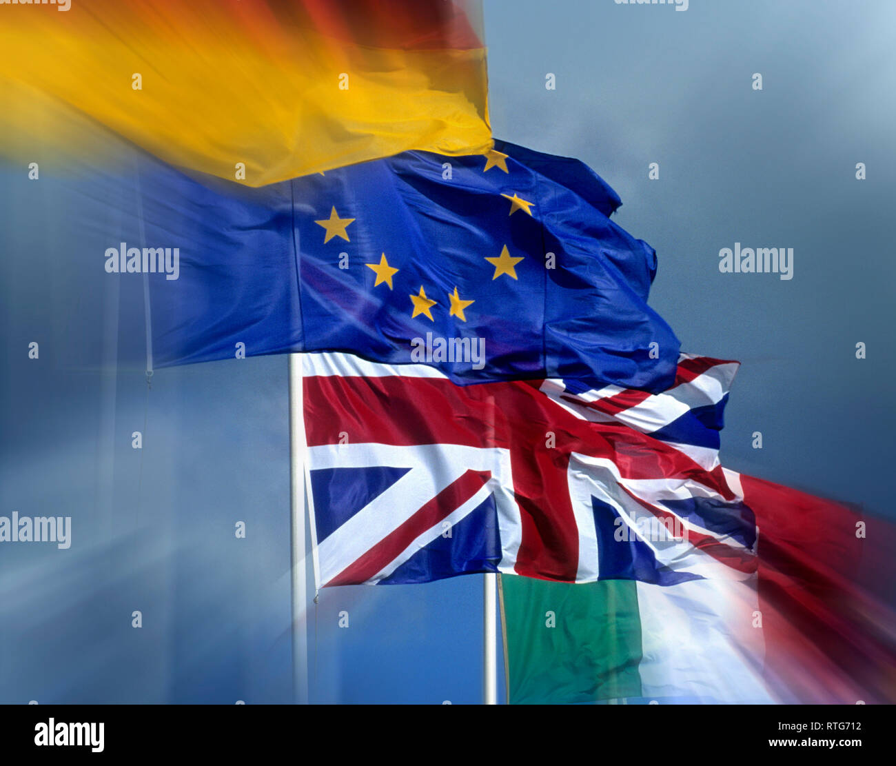 European flags - Stock Image