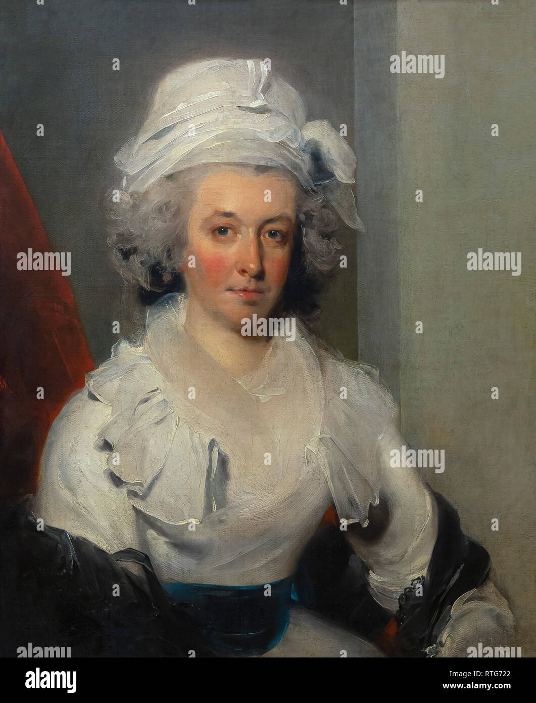 Portrait of a Lady, Thomas Lawrence, 1790's, - Stock Image