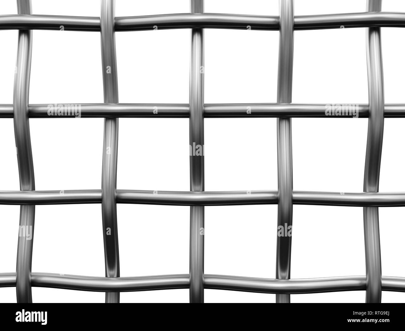 Wire fence. Image with clipping path - Stock Image