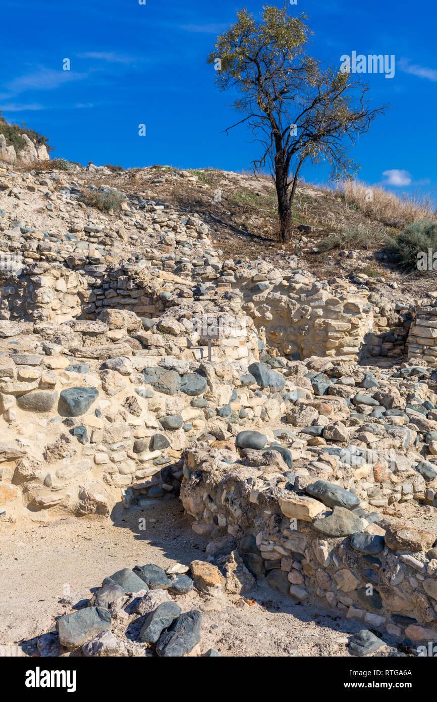 Khirokitia archaeological site, Cyprus Stock Photo