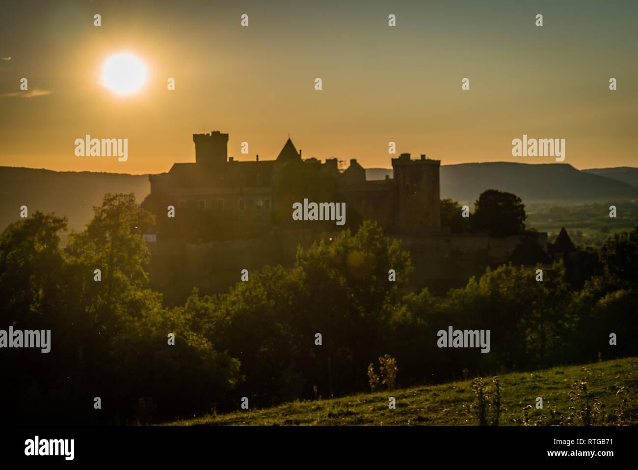 Castelnau castle in Prudhomat close to Bretenoux in France Stock Photo