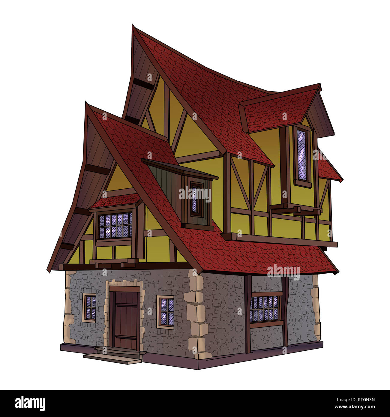 Medieval europen house - Stock Image