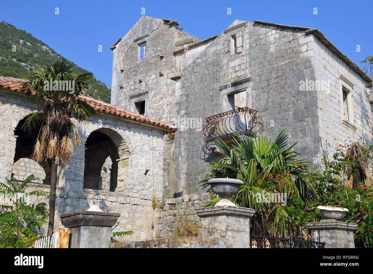 Old town, Perast, Montenegro. - Stock Image