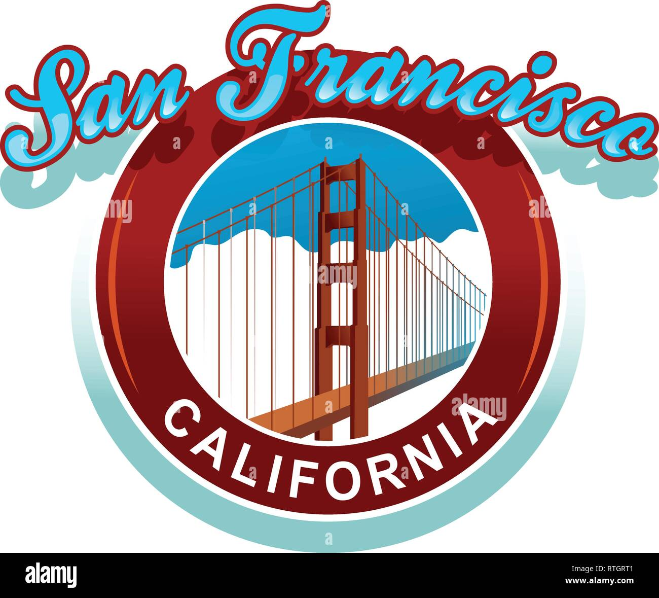 Golden Gate - Stock Vector