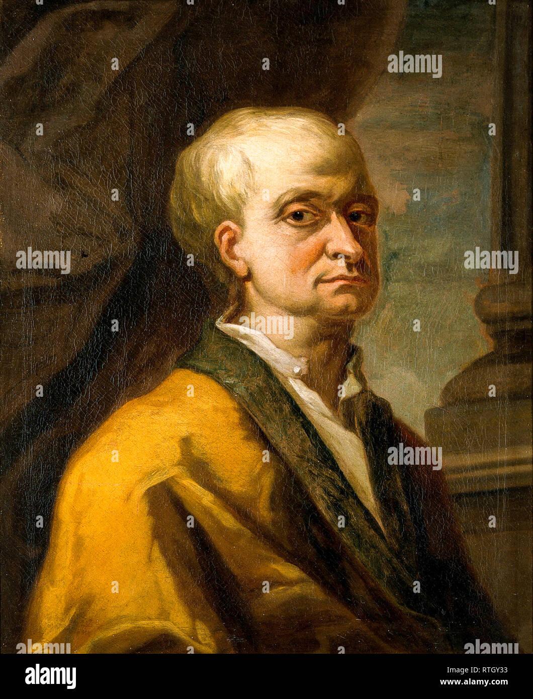 Sir Isaac Newton (1642-1727), portrait painting - Stock Image