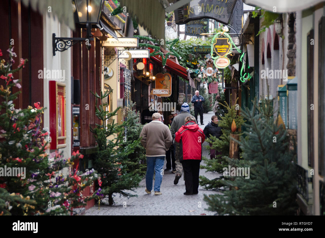 Rudesheim German Christmas Markets - Stock Image