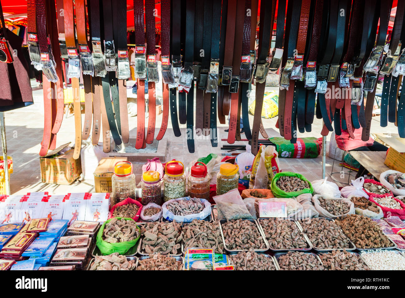 Friday Market in Shaxi, Yunnan province, China Stock Photo