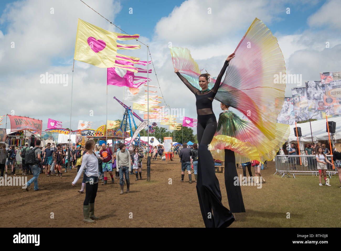 The Isle of Wight Festival, 2015 Stock Photo
