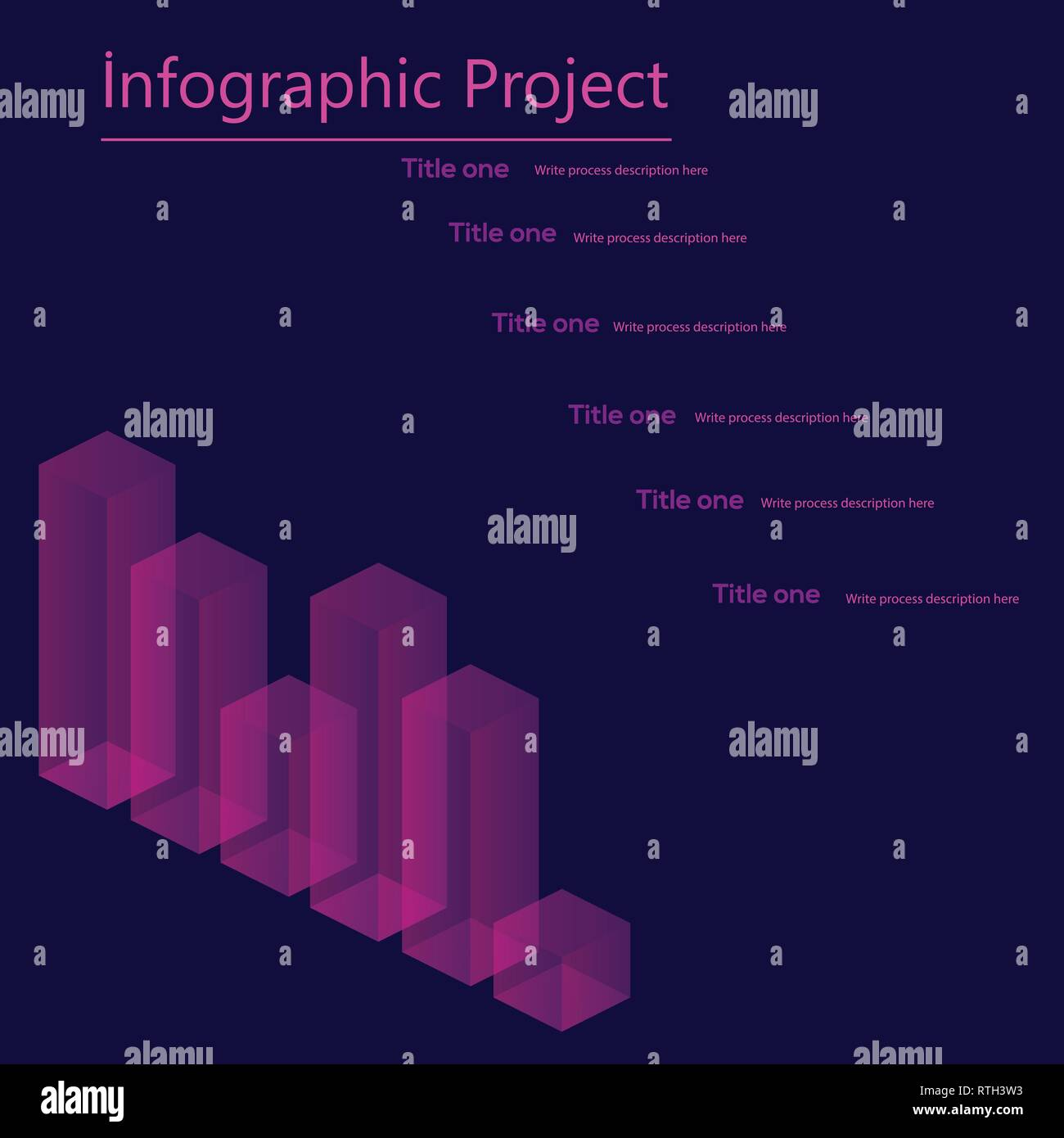 Infographic elements, statistic of data and diagrams. Isometric Vector. - Stock Image