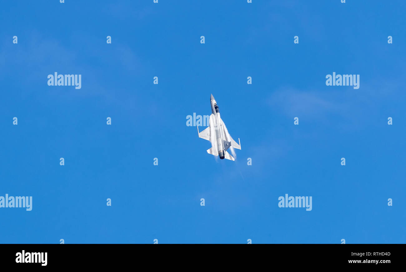 Zhuhai, GuangDong, China - November 07, 2018:  Joint Fighter-17 Thunder at Airshow China 2018 - Stock Image