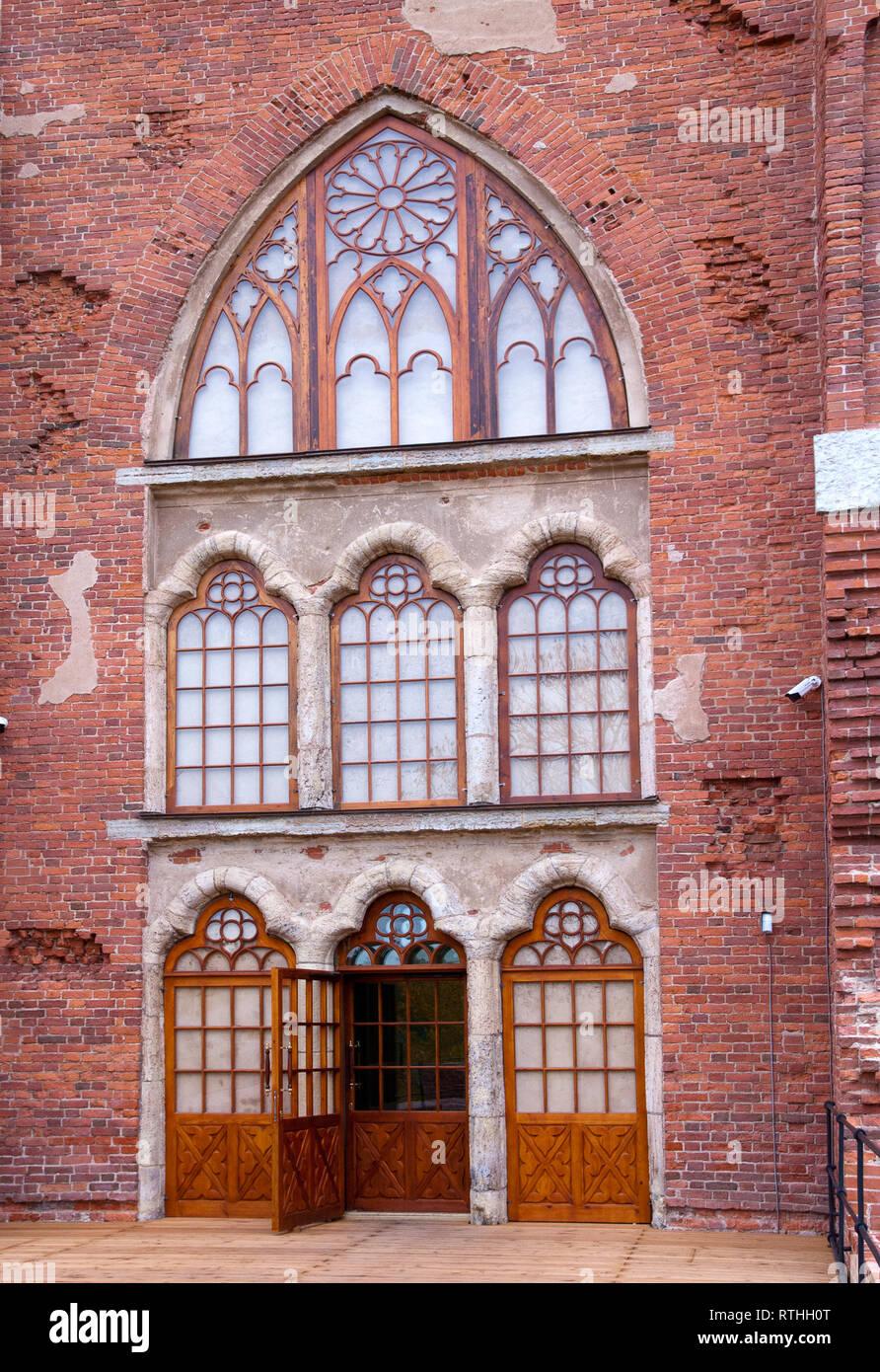 TSARSKOYE SELO, SAINT-PETERSBURG, RUSSIA – OCTOBER 8, 2018: Fragment of The Chapell Pavilion after restoration in Alexander Park - Stock Image