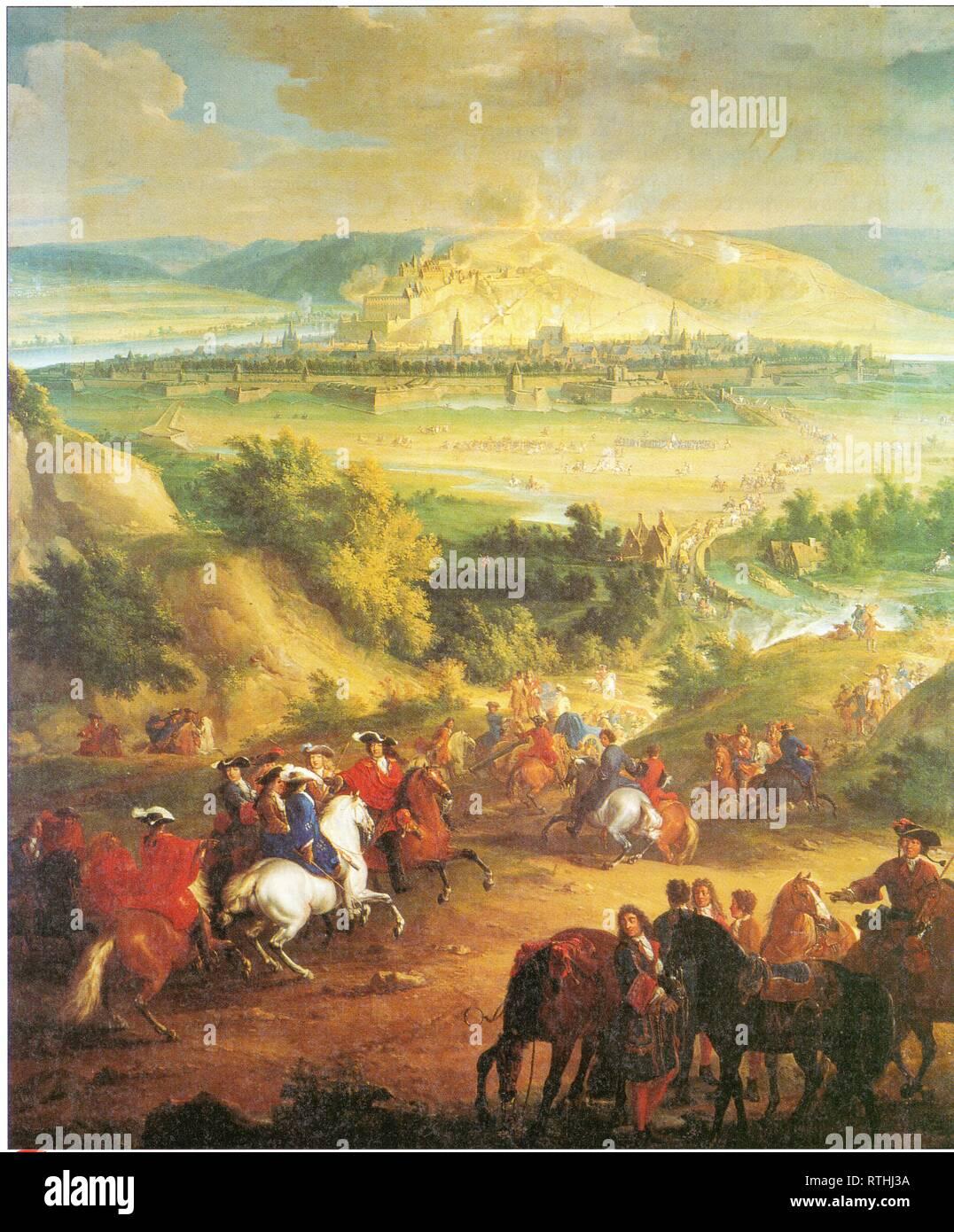UNE EUROPE EN GUERRE.JEAN-BAPTISTE MARTIN.LA PRISE DE NAMUR PAR LOUIS XIV.1 ER JUIN 1692. - Stock Image