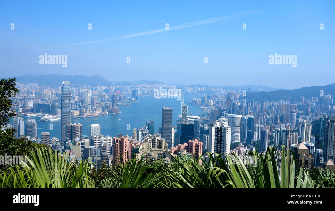 Hong Kong, Skyline - Stock Image