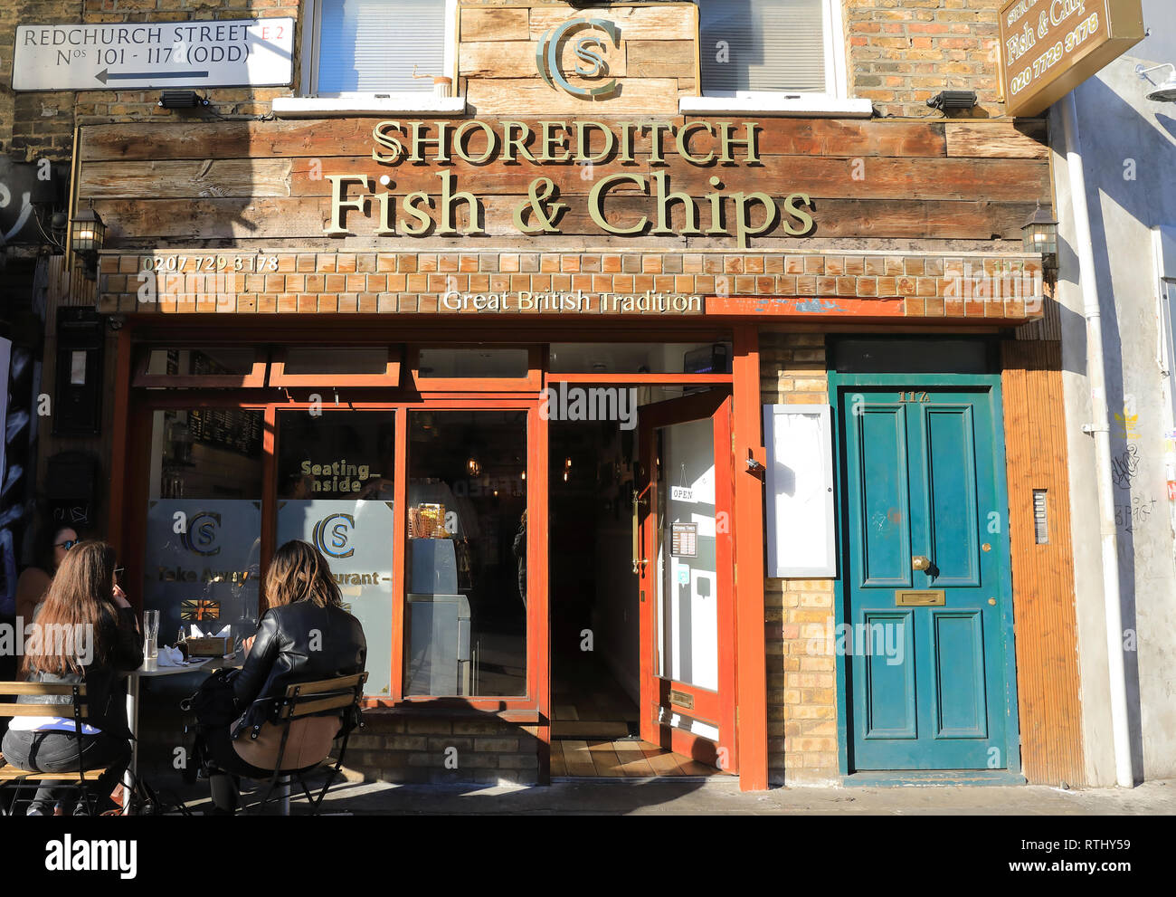 Shoreditch Fish & Chips, in Bethnal Green, in east London, UK - Stock Image