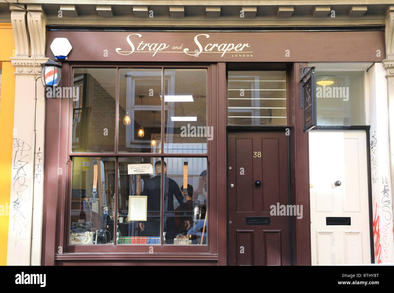 40ef19fcbdd1 London City Barber Shop Stock Photos   London City Barber Shop Stock ...