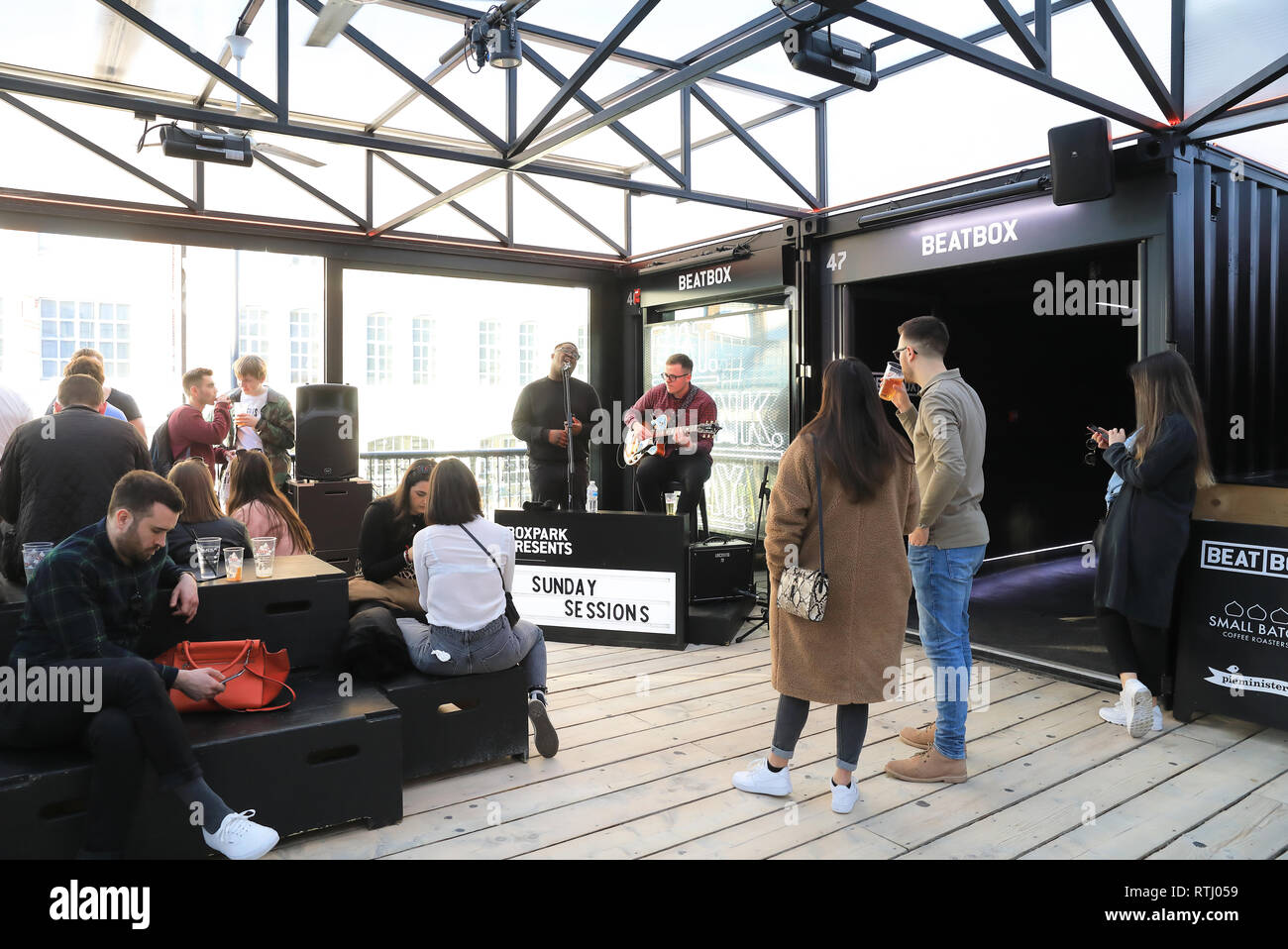 127bab22ca9f4 Shoreditch Boxpark in Bethnal Green, a shipping container pop-up mall, for  fashion & lifestyle, bars, shops & cafes, London, UK