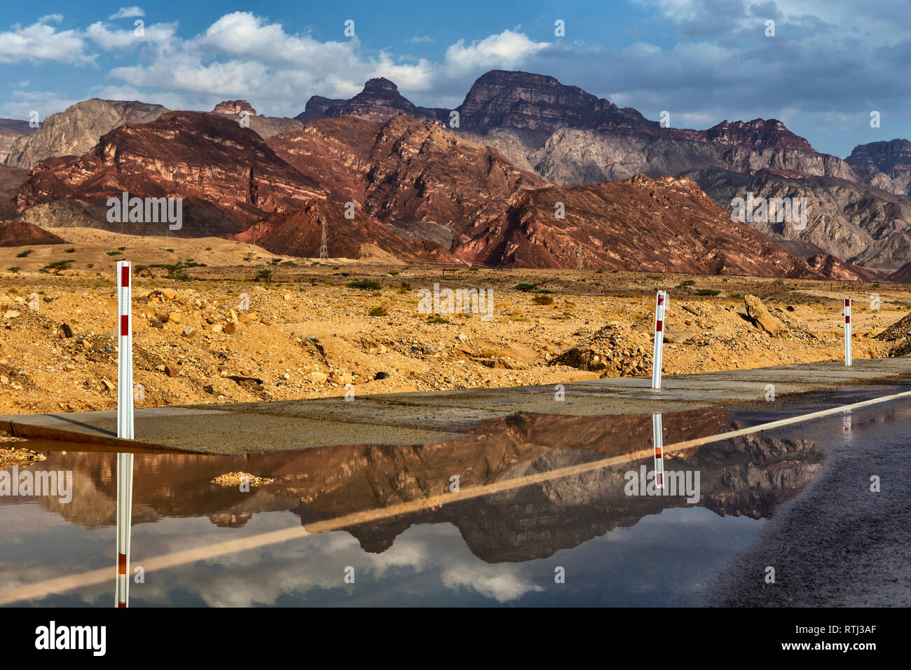 Road from Nuweiba to Taba, Sinai peninsula, Egypt - Stock Image