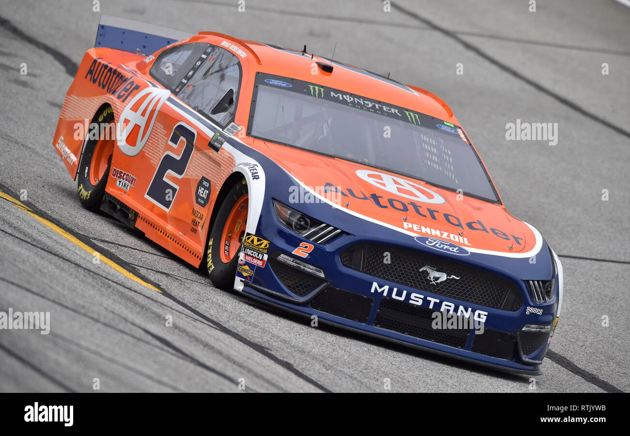 Hampton ga usa 23rd feb 2018 brad keselowski drives the