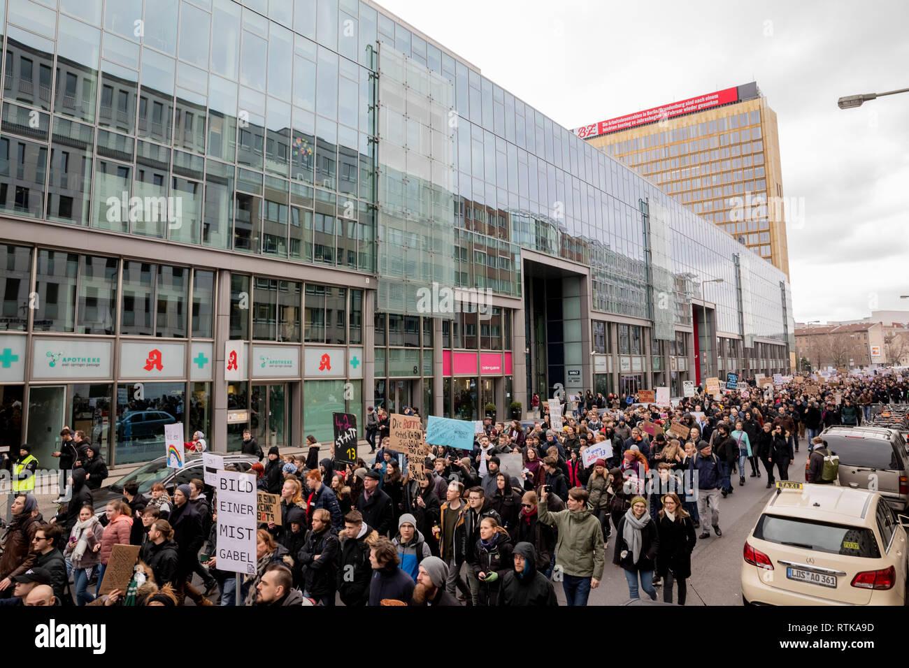 Berlin, Germany  02nd Mar, 2019  Thousands march in Berlin
