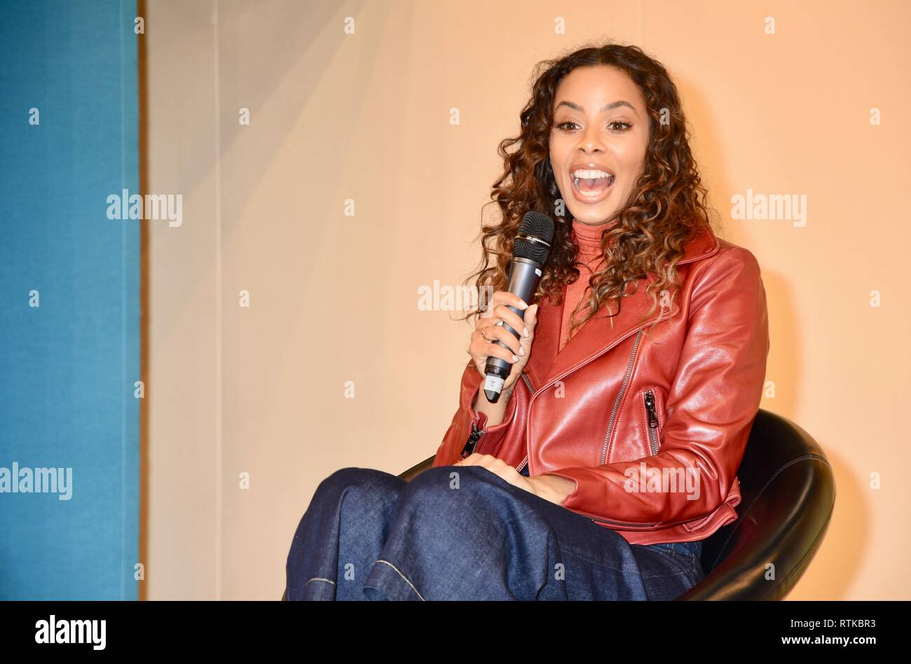 Rochelle Humes,Q&A Live Stage,The Baby Show,Excel,London.UK - Stock Image