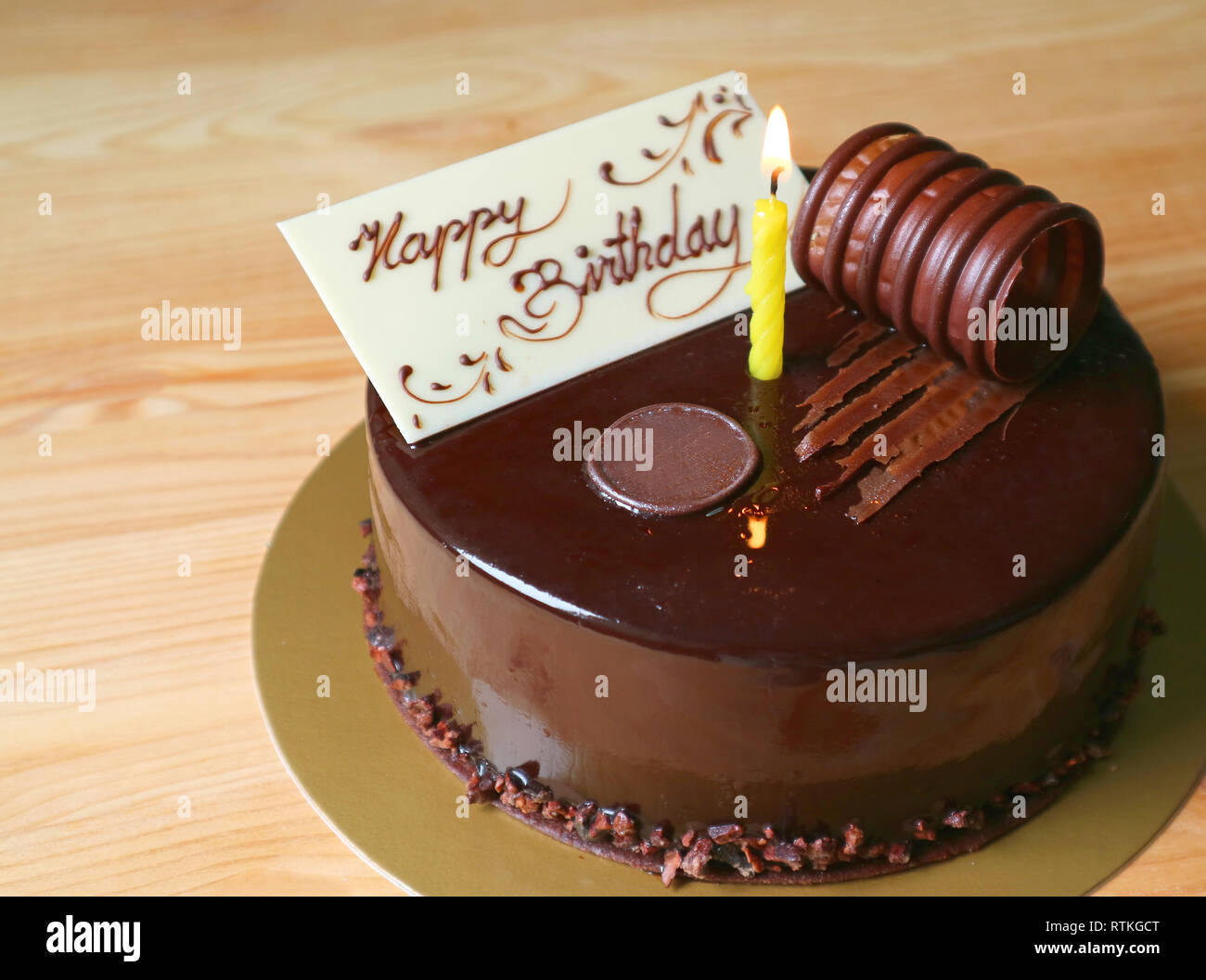 Cool Moist Chocolate Birthday Cake Topped With Edible White Chocolate Funny Birthday Cards Online Alyptdamsfinfo