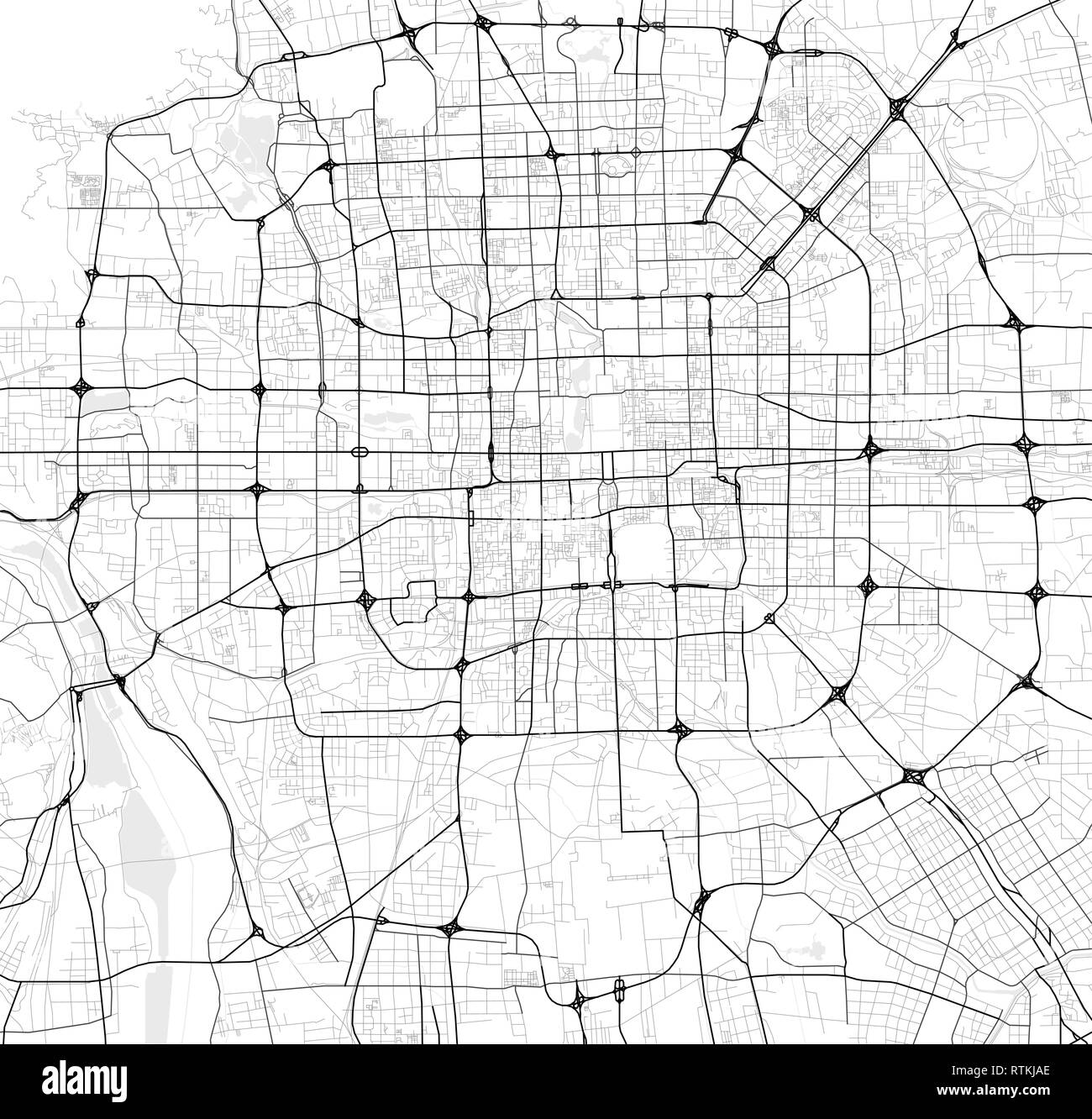 Beijing Map Vector High Resolution Stock Photography And Images Alamy