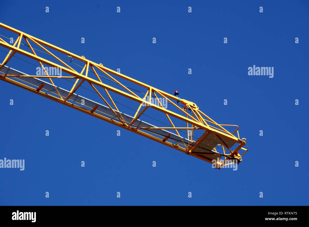 Tower crane lights