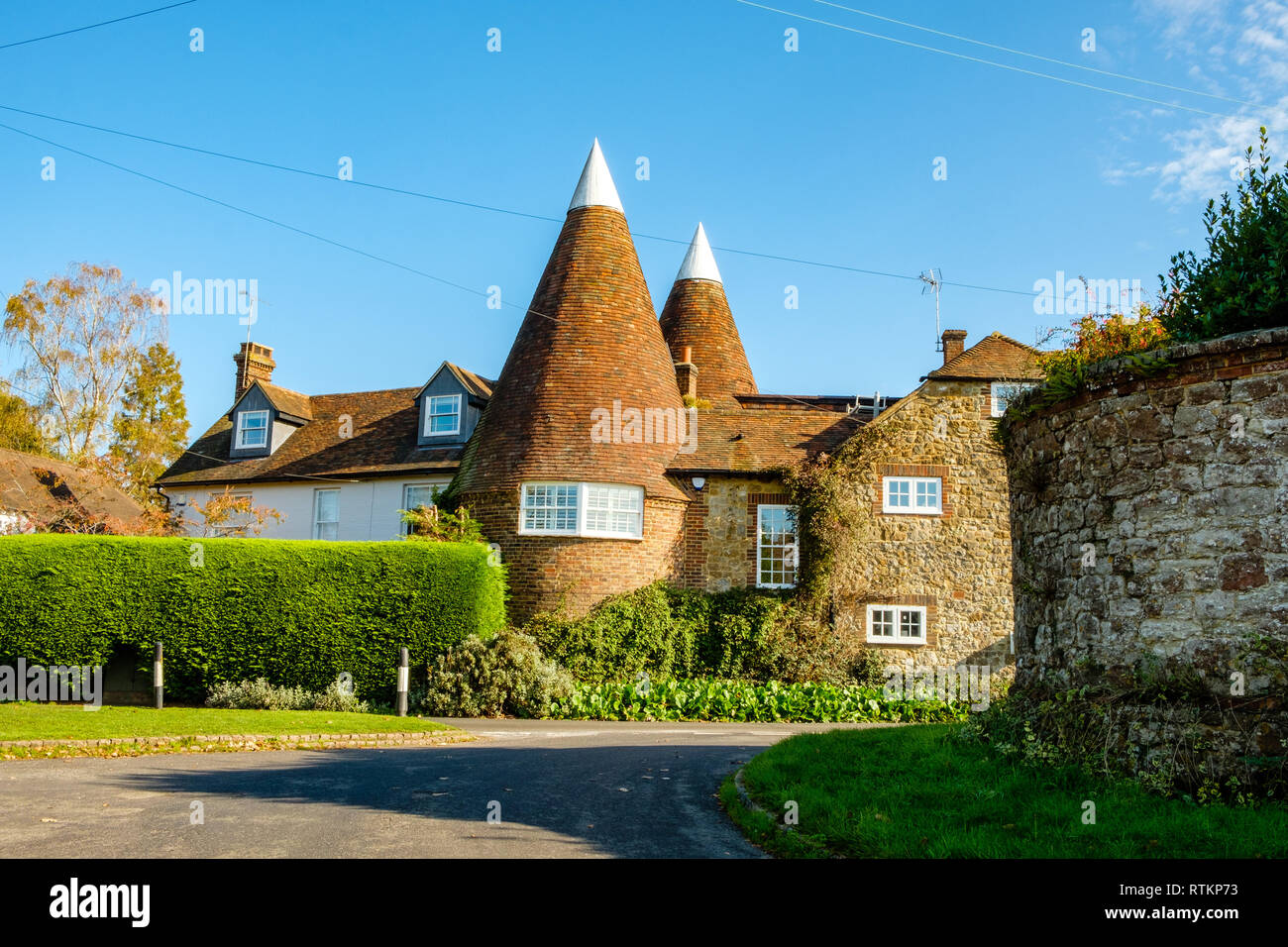 Converted Oast House, High Cross Road, Ivy Hatch, Kent - Stock Image