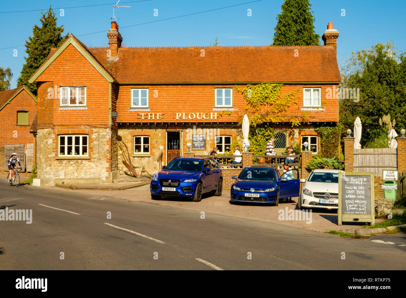 The Plough Public House, High Cross Road, Ivy Hatch, Kent - Stock Image