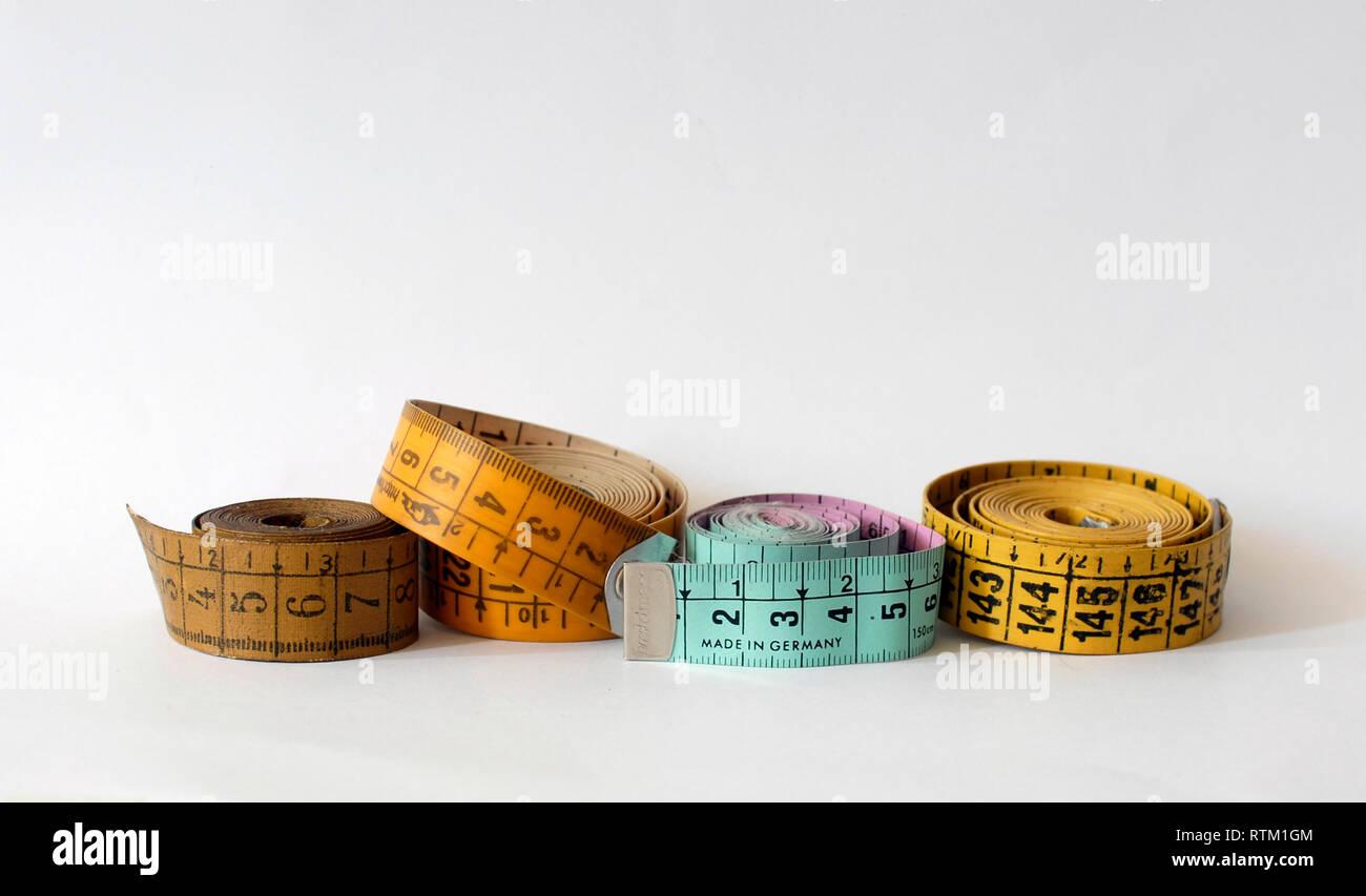 Vintage Colorful Fabric Tape Measure  Choose Your Color!